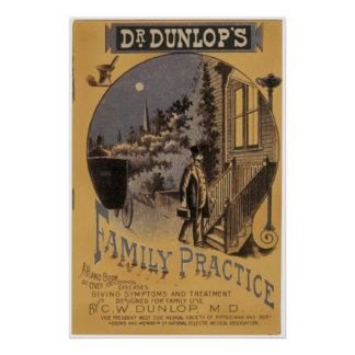 Vintage Book Cover; Dr. Dunlop's Family Practice Print
