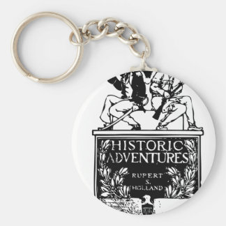 Vintage Book Cover - Historic Adventures Keychains