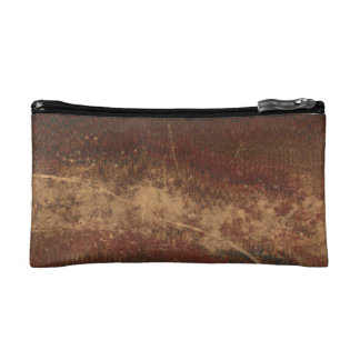 Vintage book cover, retro faux leather bound cosmetic bag