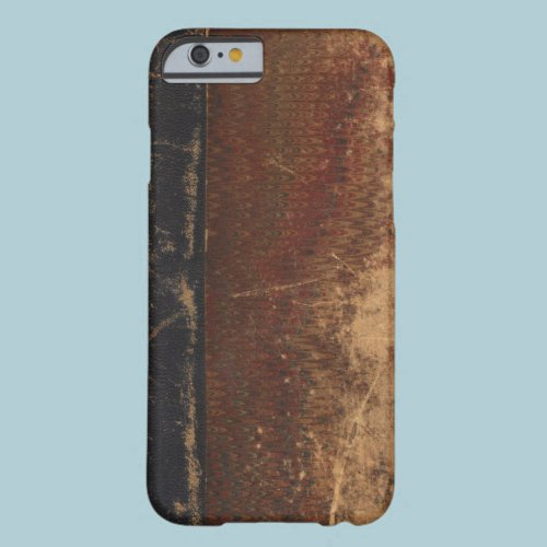 Vintage book cover, retro faux leather bound barely there iPhone 6 case