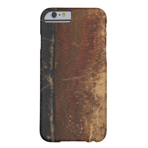 Old Leather Book Iphone Cover : Vintage book cover retro faux leather bound barely there