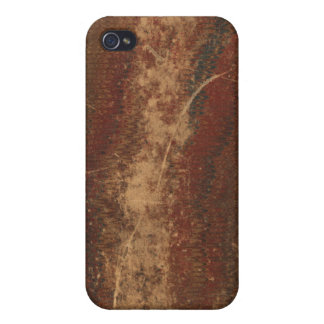 Vintage book cover, retro faux leather bound case for iPhone 4