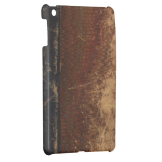 Vintage book cover, retro faux leather bound cover for the iPad mini