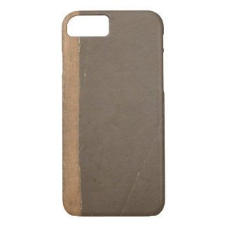 Vintage book cover, retro faux leather bound iPhone 7 case