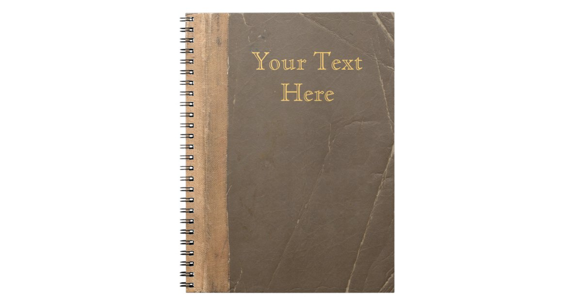 Book Cover Vintage Guitar : Vintage book cover retro faux leather bound notebook zazzle