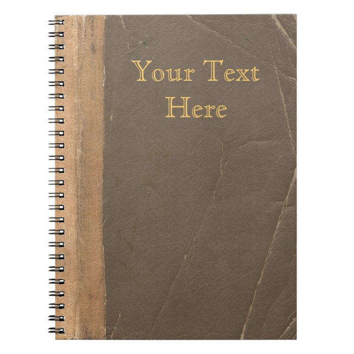 Old Book Cover Notebook ~ Vintage book cover retro faux leather bound notebook zazzle