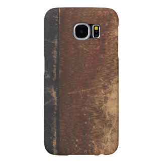 Vintage book cover, retro faux leather bound samsung galaxy s6 case