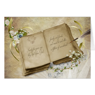 Vintage book for 75th Wedding Anniversary Card