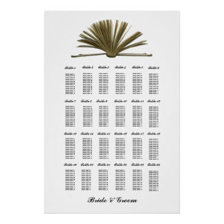 Vintage Book Lovers Large Seating Chart