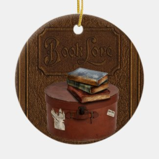 Vintage Book Lover's Ornament