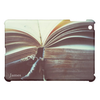 vintage book open iPad mini case