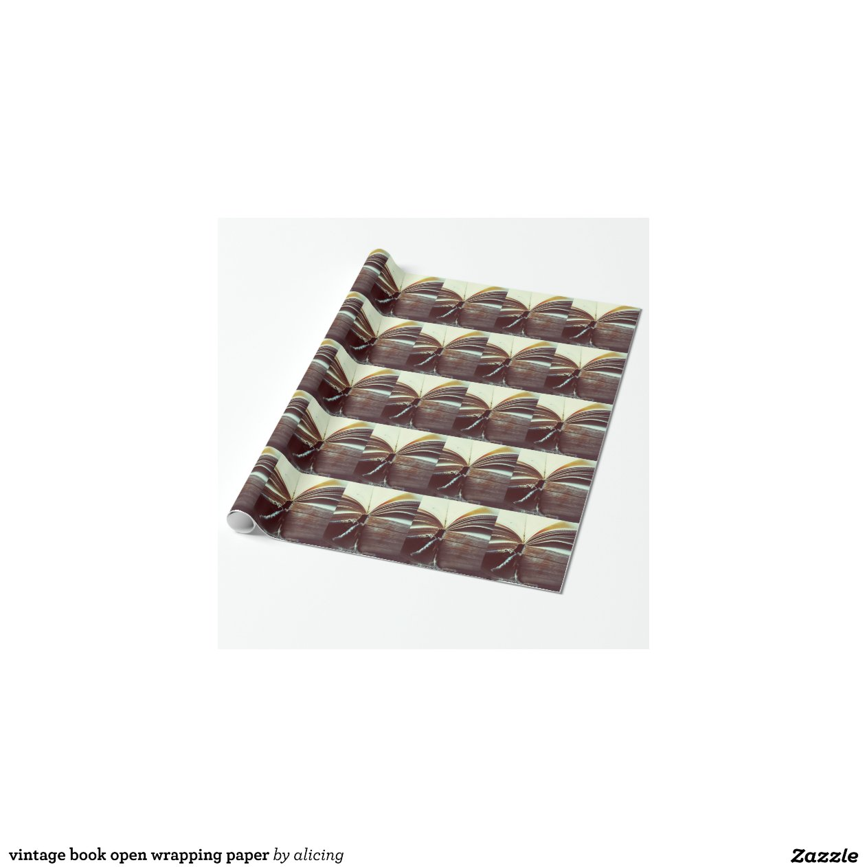 Vintage Book Cover Wrapping Paper : Vintage book open wrapping paper zazzle