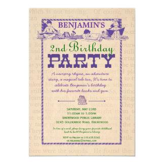 Vintage Book Party Invitation