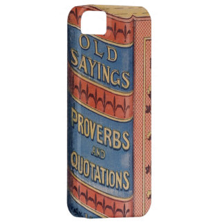 Vintage Book Sayings Proverbs Grandparents Gift iPhone SE/5/5s Case
