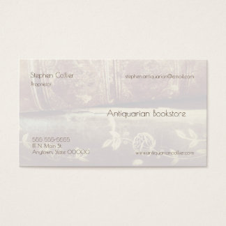 Vintage book spines fade business card