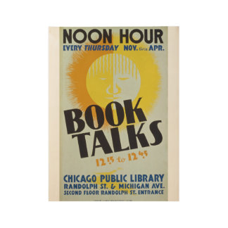 "Vintage ""Book Talks"" Poster"