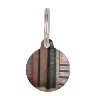 Vintage Books All In A Row Pet Tag