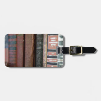 Vintage Books All In A Row Luggage Tag