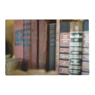 Vintage Books All In A Row Laminated Place Mat
