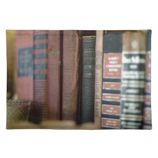 Vintage Books All In A Row Cloth Place Mat