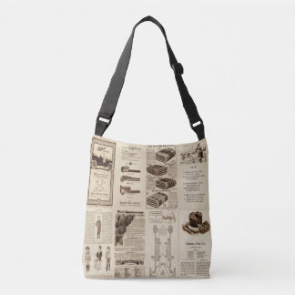 Vintage Books And Magazines Mix Crossbody Bag