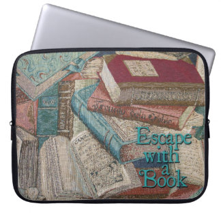 Vintage Books Background Laptop Sleeve