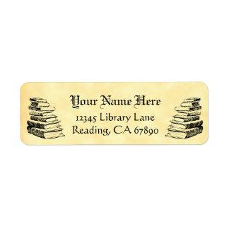 Vintage Books Custom Return Address Faux Parchment Label