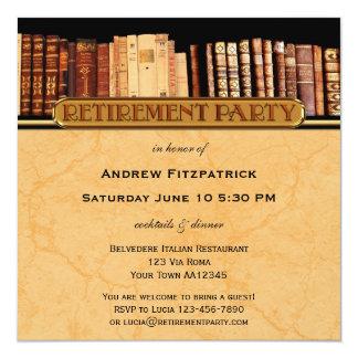 Vintage Books Retirement Party Invitation
