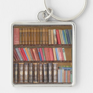 Vintage Books Silver-Colored Square Keychain