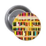 Vintage Bookshelf n Books 2 Inch Round Button