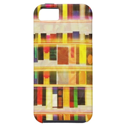 Vintage Bookshelf n Books iPhone SE/5/5s Case