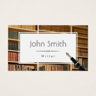 Vintage Bookshelves Writer/Editor Business Card