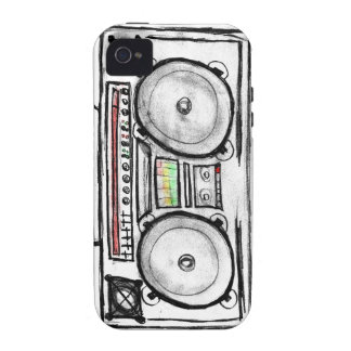 Vintage Boom Box Vibe iPhone 4 Cover