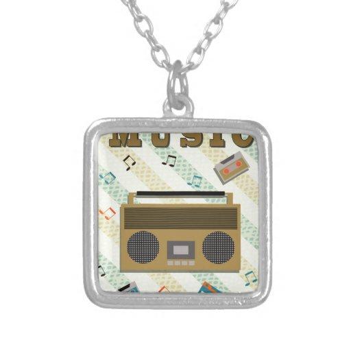 vintage boombox radio custom necklace