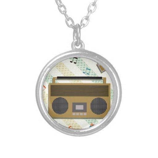 vintage boombox radio pendant