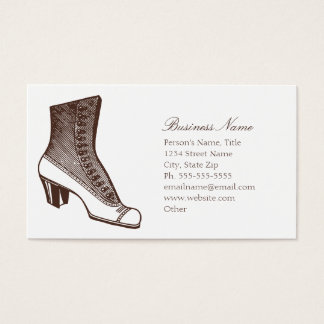 Vintage Boot Business Card