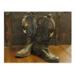 Vintage boots postcard