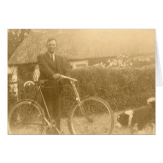 Vintage Border Collie Bicycle Card