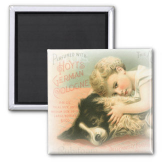Vintage Border Collie Magnet