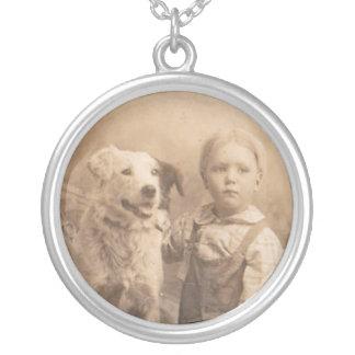 Vintage Border Collie Sterling Necklace