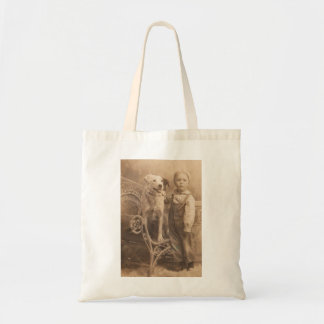 Vintage Border Collie Tote