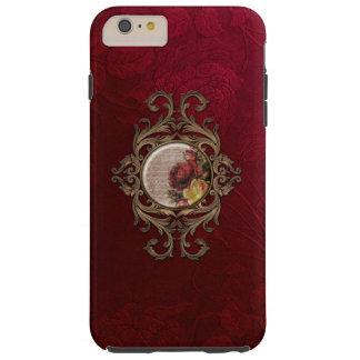 Vintage Borgoña adornada floral Funda De iPhone 6 Plus Tough