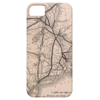 Vintage Boston and Montreal Railroad Map (1887) iPhone 5 Cover