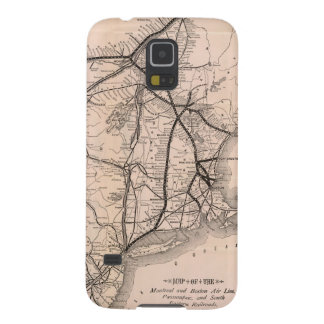Vintage Boston and Montreal Railroad Map (1887) Galaxy S5 Covers