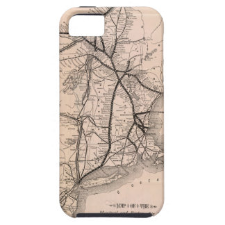 Vintage Boston and Montreal Railroad Map (1887) iPhone 5 Cases