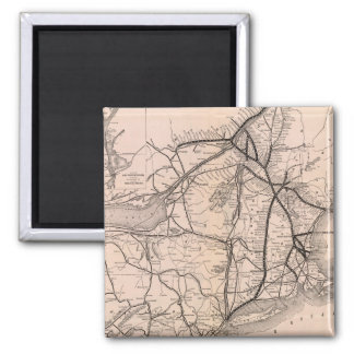 Vintage Boston and Montreal Railroad Map (1887) Magnet