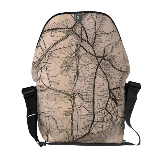 Vintage Boston and Montreal Railroad Map (1887) Courier Bag