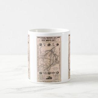 Vintage Boston and Montreal Railroad Map (1887) Classic White Coffee Mug