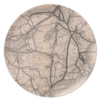 Vintage Boston and Montreal Railroad Map (1887) Plate