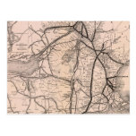 Vintage Boston and Montreal Railroad Map (1887) Post Cards
